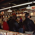 Wholey's: the line at the fish counter.